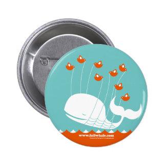 Botón de la ballena del fall pin redondo de 2 pulgadas