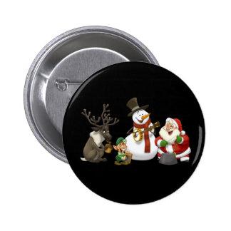 Botón de la banda de jarro del navidad pin redondo de 2 pulgadas