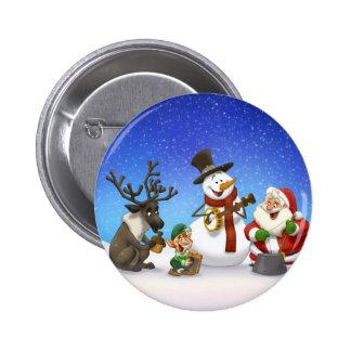 Botón de la banda de jarro del navidad pins