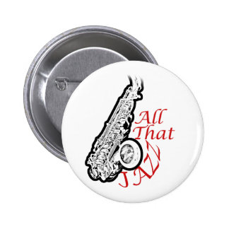 Botón de la banda del músico de jazz del saxofón pin redondo de 2 pulgadas
