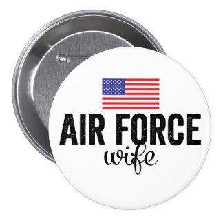 Botón de la bandera americana de la esposa de la