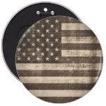 Botón de la bandera americana del vintage pins