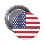 Botón de la bandera americana pin