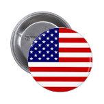 Botón de la bandera americana pins