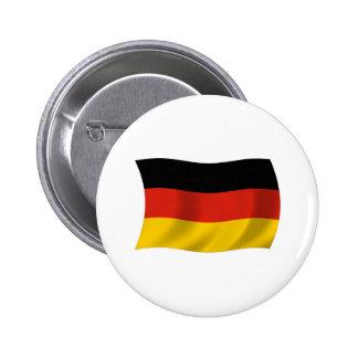 Botón de la bandera de Alemania Pin Redondo De 2 Pulgadas