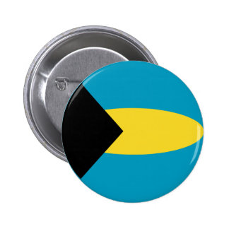 Botón de la bandera de Bahamas Fisheye Pin Redondo De 2 Pulgadas