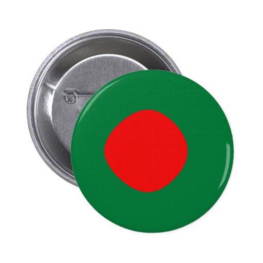 Botón de la bandera de Bangladesh Fisheye