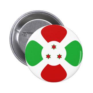 Botón de la bandera de Burundi Fisheye Pins