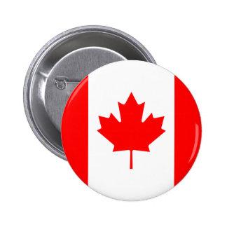 Botón de la bandera de Canadá Pin Redondo De 2 Pulgadas