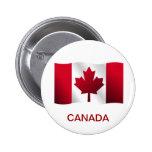 Botón de la bandera de Canadá Pins