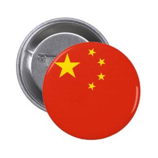 Botón de la bandera de China Pin