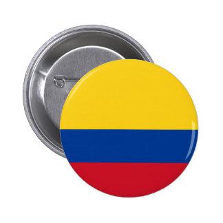 Botón de la bandera de Colombia Pins