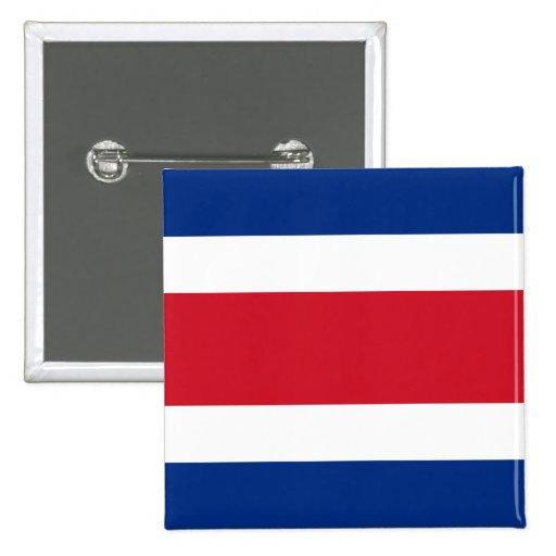 Botón de la bandera de Costa Rica Pins