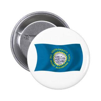 Botón de la bandera de Dakota del Sur Pin