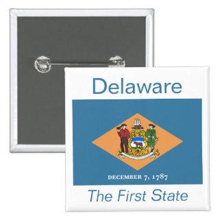 Botón de la bandera de Delawarean