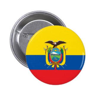 Botón de la bandera de Ecuador Pin Redondo De 2 Pulgadas