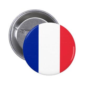 Botón de la bandera de Francia Pin Redondo De 2 Pulgadas