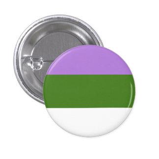 Botón de la bandera de Genderqueer Pin Redondo De 1 Pulgada