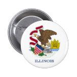 Botón de la bandera de Illinois Pins