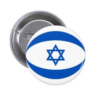 Botón de la bandera de Israel Fisheye Pin Redondo De 2 Pulgadas