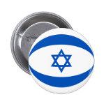 Botón de la bandera de Israel Fisheye Pins