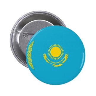 Botón de la bandera de Kazajistán Fisheye Pin