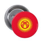 Botón de la bandera de Kirguistán Pin