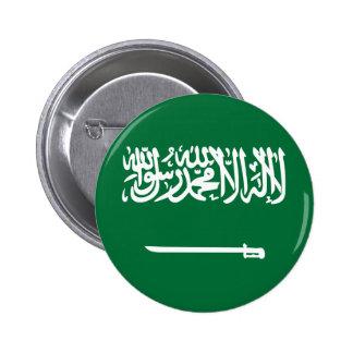 Botón de la bandera de la Arabia Saudita Pin Redondo De 2 Pulgadas