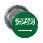 Botón de la bandera de la Arabia Saudita Pins