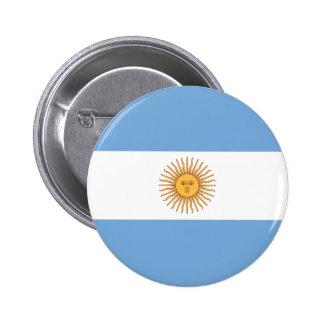 Botón de la bandera de la Argentina Pin Redondo De 2 Pulgadas