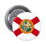 Botón de la bandera de la Florida Pin