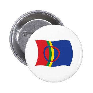 Botón de la bandera de la gente de Sami Pin Redondo De 2 Pulgadas