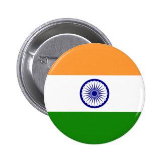 Botón de la bandera de la India Pin Redondo De 2 Pulgadas