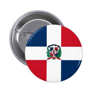 Botón de la bandera de la República Dominicana Pin Redondo De 2 Pulgadas