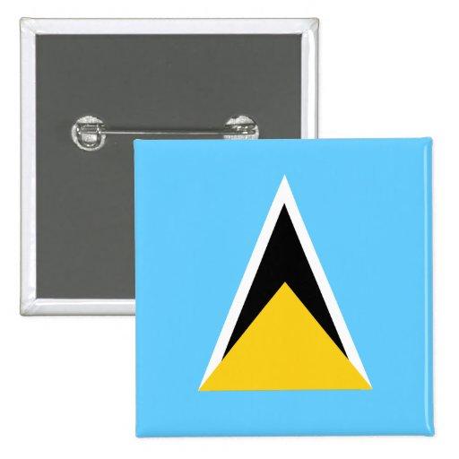 Botón de la bandera de la Santa Lucía Pin