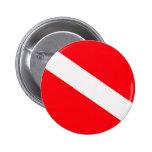 Botón de la bandera de la zambullida pin