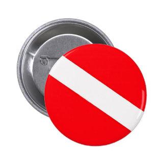 Botón de la bandera de la zambullida pin redondo de 2 pulgadas