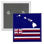 Botón de la bandera de las islas hawaianas n pins