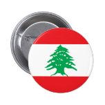 Botón de la bandera de Líbano Pins