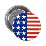 Botón de la bandera de los E.E.U.U. Pins