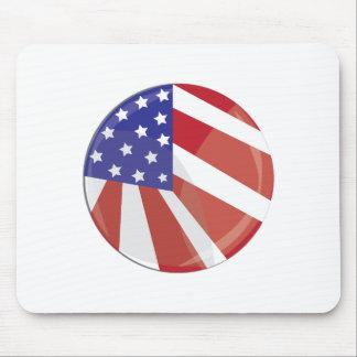 Botón de la bandera de los E.E.U.U. Alfombrillas De Raton
