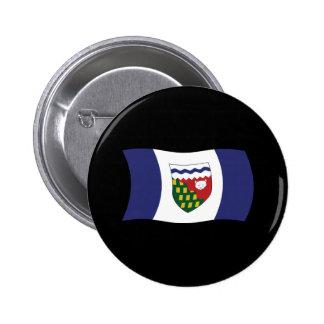 Botón de la bandera de los territorios del pin redondo de 2 pulgadas