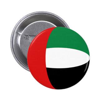 Botón de la bandera de los UAE Fisheye Pin Redondo De 2 Pulgadas