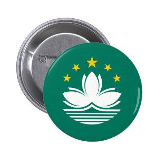 Botón de la bandera de Macao Pins