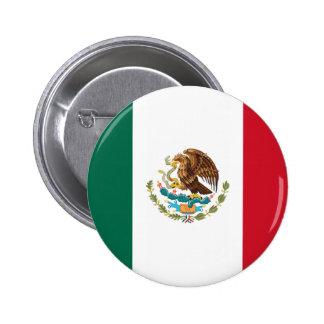 Botón de la bandera de México Pin Redondo De 2 Pulgadas
