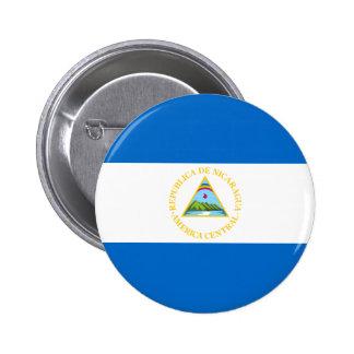 Botón de la bandera de Nicaragua Pin Redondo De 2 Pulgadas