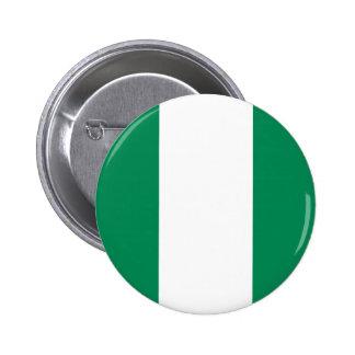 Botón de la bandera de Nigeria Pin Redondo De 2 Pulgadas