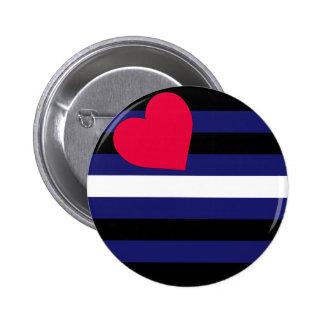 Botón de la bandera de orgullo de cuero pin redondo de 2 pulgadas