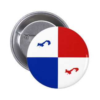 Botón de la bandera de Panamá Fisheye Pin Redondo De 2 Pulgadas