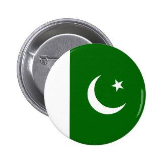 Botón de la bandera de Paquistán Pin Redondo De 2 Pulgadas